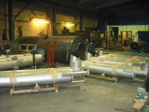 Multiple industrial silencers