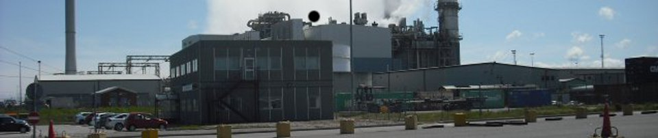Silencer in use at British Gas plant